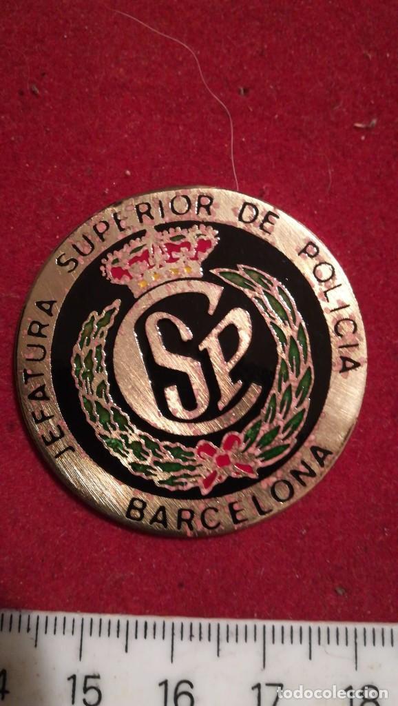 Militaria: CHAPA JEFATURA SUPERIOR DE POLICÍA BARCELONA - Foto 3 - 199638603