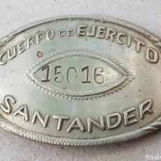 Militaria: CHAPA DE IDENTIFICACIÓN CUERPO EJERCITO SANTANDER EJERCITO POPULAR REPUBLICA GUERRA CIVIL. Lote 207118472