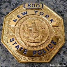 Militaria: INSIGNIA PLACA DE POLICIA AMERICANA DE LA POLICIA ESTATAL DE NUEVA YORK. Lote 207946160