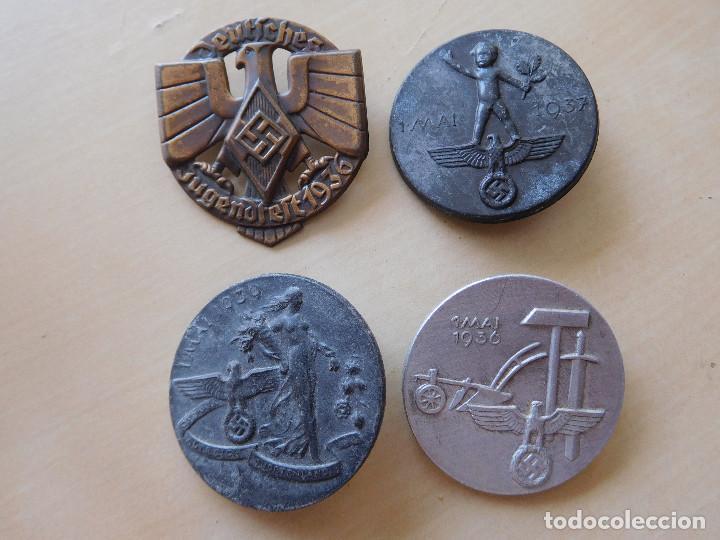 LOTE DE 4 INSIGNIAS ALEMANAS III REICH (Militar - Insignias Militares Extranjeras y Pins)
