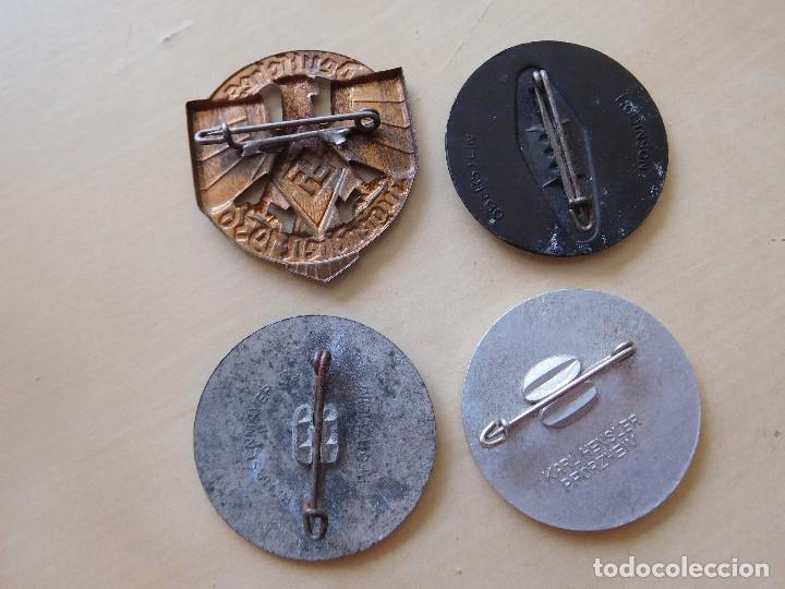 Militaria: Lote de 4 insignias alemanas III Reich - Foto 2 - 210175485