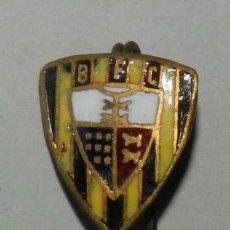 Militaria: INSIGNIA DE OJAL ESMALTADA DEL B F C, REVERSO CON ALFILER.. Lote 210273807