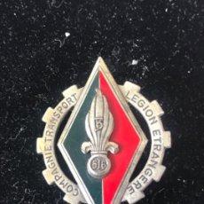 Militaria: INSIGNIA COMPAGNIE TRANSPORT LEGIÓN ETRANGERE FRANCIA. COMPAÑÍA TRANSPORTES LEGIÓN EXTRANJERA.. Lote 211303012
