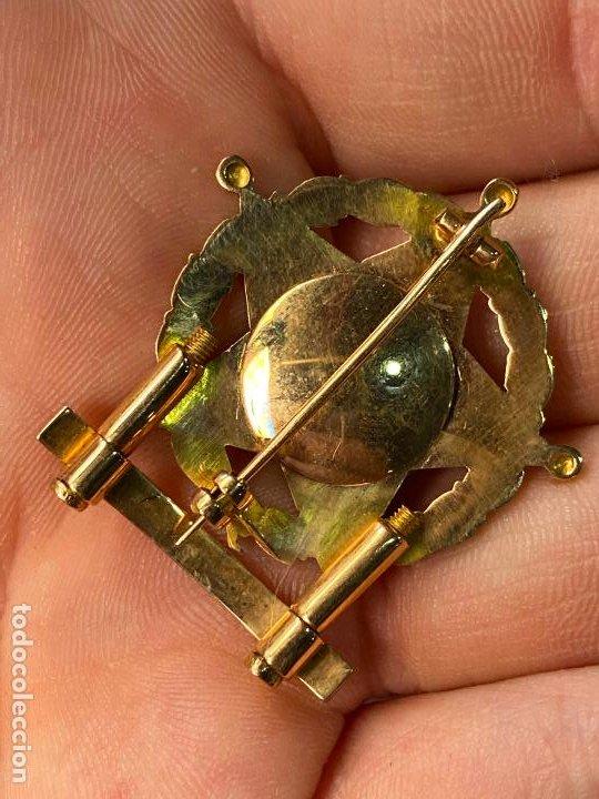 Militaria: Insignia de PROFESORADO MILITAR con barras bañada en oro - Impecable y bella factura - Foto 3 - 212300440