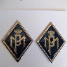 Militaria: PAREJA ROMBOS POLICIA MUNICIPAL. Lote 215133117