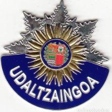 Militaria: PLACA METALICA UDALTZAINGOA ( POLICIA LOCAL ) EUZKADI / ACTUAL. Lote 245169425