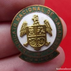 Militaria: INSIGNIA OJAL. SINDICATO NACIONAL DE GANADERÍA. JURADO. ÚNICA EN TC. ÉPOCA DE FRANCO. PIN.. Lote 215949601