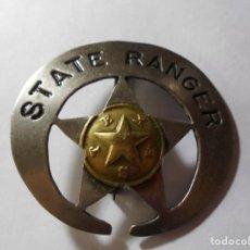 Militaria: MAGNIFICA ANTIGUA PLACA STATE RANGER TEXAS. Lote 216423176