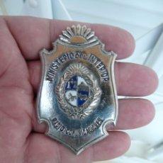 Militaria: EMBLEMA MINISTERIO DEL INTERIOR URUGUAY POLICIA. Lote 216827220