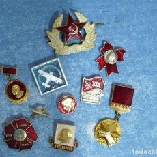 Militaria: URSS 10 INSIGNIAS SOVIETICAS. Lote 217025071