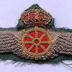 Militaria: EMBLEMA BORDADO DE PILOTO DE DIRIGIBLE, AVIACIÓN, ALFONSO XIII,. Lote 217979653