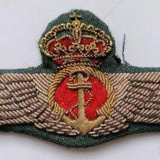Militaria: EMBLEMA BORDADO DE PILOTO DE GLOBO, AVIACIÓN, ALFONSO XIII,. Lote 217980317