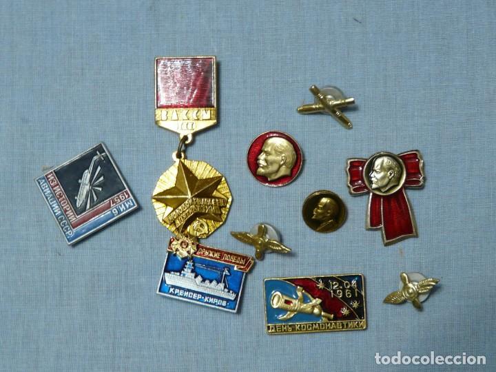URSS 10 INSIGNIAS SOVIETICAS (Militar - Insignias Militares Extranjeras y Pins)