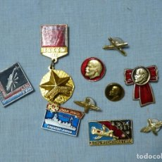 Militaria: URSS 10 INSIGNIAS SOVIETICAS. Lote 218672010