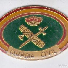 Militaria: PLACA METALICA DE LA GUARDIA CIVIL - TAMAÑO 5,5CM X 3,5CM. Lote 219094085