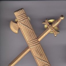 Militaria: PIN DE LA GUARDIA CIVIL DORADO - TAMAÑO 5CM X 4,5CM. Lote 219104201