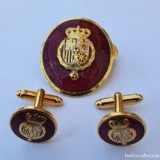 Militaria: OVALO DE PERMANENCIA Y GEMELOS CASA REAL FELIPE VI. Lote 219718721
