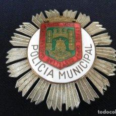 Militaria: ANTIGUA PLACA DE PECHO DE LA POLICIA MUNICIPAL DE BURGOS.. Lote 221947311