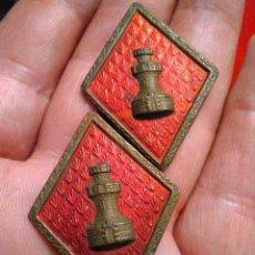 Militaria: INSIGNIAS MILITARES ROMBOS INGENIEROS EJÉRCITO ESPAÑOL. Lote 221954665