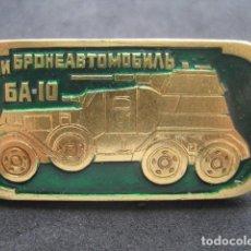 Militaria: PIN, INSIGNIA TANQUE RUSO SOVIETICO 6A-10. Lote 222131443