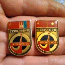 Militaria: INSIGNIA URSS RUSA SOVIETICA SATÉLITE, COSMOS , PROGRAMA INTERKOSMOS , ASTRONAUTA , ESPACIO ,. Lote 222142377