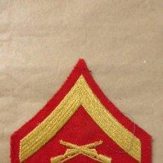 Militaria: EMBLEMA BORDADO CUERPO DE MARINES. LANCE CORPORAL ( CABO INTERINO). ORIGINAL AÑOS 80.. Lote 224390688