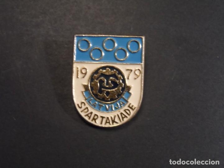 INSIGNIA SPARTAKIADE 1979 LETONIA. URSS. VERANO AÑO 1979. SIGLO XX (Militar - Insignias Militares Internacionales y Pins)