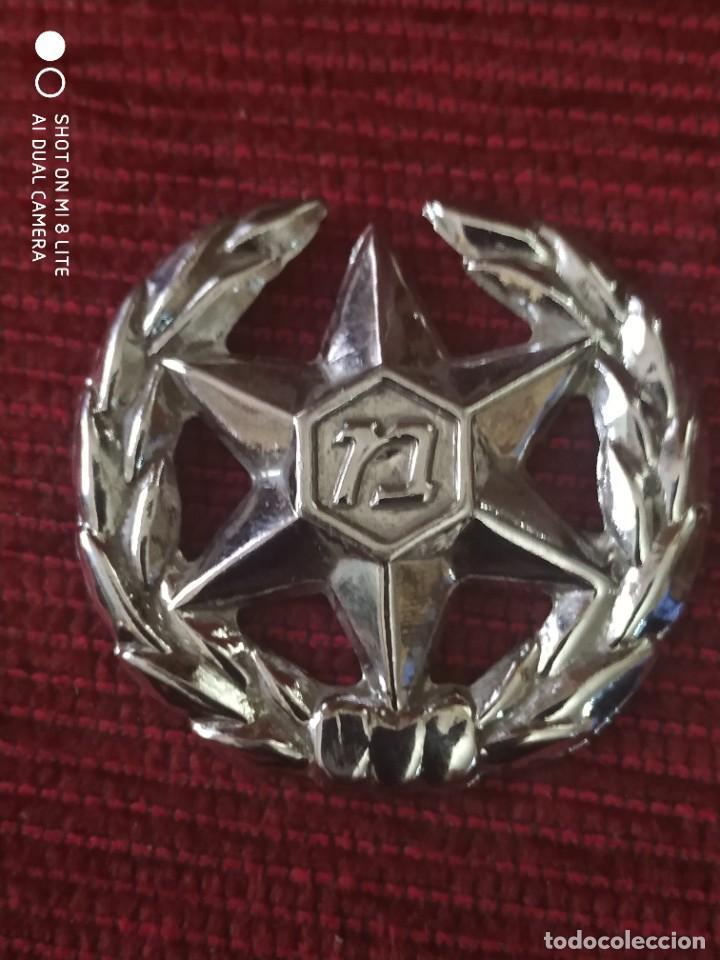 INSIGNIA PLACA GORRA POLICIA POLICE ISRAEL ESTRELLA 6 PUNTAS CON LAUREADA (Militar - Insignias Militares Extranjeras y Pins)