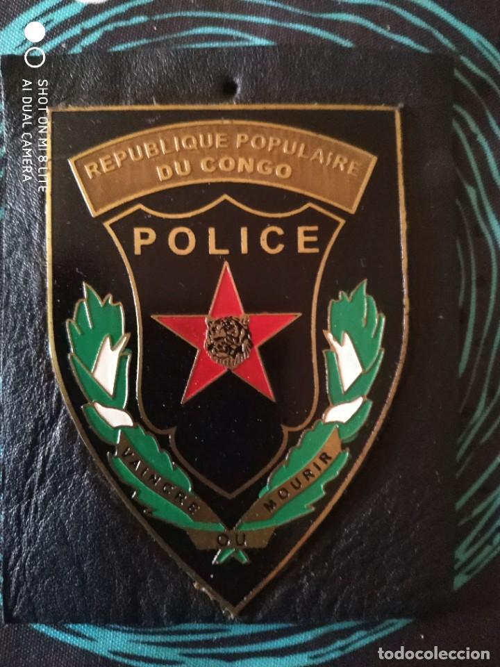 PLACA DE POLICIA EN METAL ESMALTADO DE REPUBLICA POPULAR DEL CONGO (Militar - Insignias Militares Extranjeras y Pins)