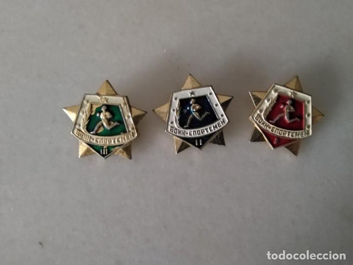 LOTE INSIGNIAS MILITARES RUSAS DE ATLETISMO. LOTE III (Militar - Insignias Militares Extranjeras y Pins)
