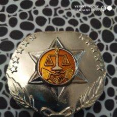 Militaria: PLACA POLICIA DE CABO VERDE DISTINTIVO POLICIAL AFRICA. Lote 229079875
