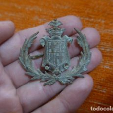 Militaria: ANTIGUO EMBLEMA DE BARCELONA REPUBLICANO DE GUERRA CIVIL, PARA GORRA, ORIGINAL.. Lote 231743255
