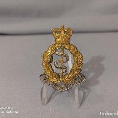 Militaria: INSIGNIA GORRA BRITÁNICA - ROYAL ARMY MEDICAL CORPS - MARCAJE - MÉDICO - INGLATERRA. Lote 232165500