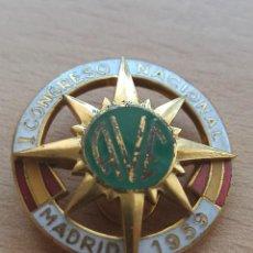 """Militaria: PIN DE OJAL DEL PRIMER CONGRESO NACIONAL """"AVE"""" MADRID 1959. Lote 234843395"""