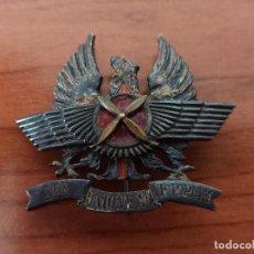 Militaria: DISTINTIVO DE COOPERACIÓN AEROTERRESTRE. NÚMERO BAJO. ÉPOCA FRANCO.. Lote 235257365