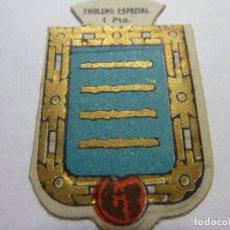 Militaria: AUXILIO SOCIAL.EMBLEMA ESPECIAL 1 PTA. SERIE B Nº 259 TAMARGO. Lote 236066325