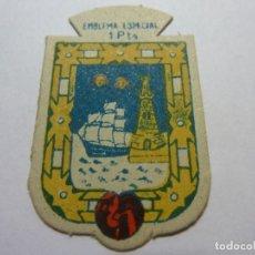 Militaria: AUXILIO SOCIAL.EMBLEMA ESPECIAL 1 PTA. SERIE B Nº 314 SANTANDER. Lote 236066620