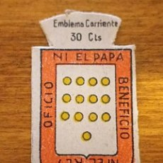 Militaria: EMBLEMA AUXILIO SOCIAL, SERIE X, Nº 36, MEDINA DEL CAMPO. Lote 236779140