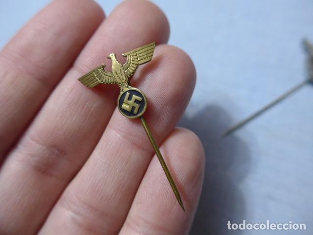Militaria: * Lote 3 antigua insignia emblema aleman de II guerra mundial, a identificar, alemania. ZX - Foto 4 - 238002390