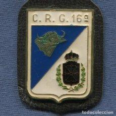 Militaria: INSIGNIA O PEPITO DE LA POLICÍA NACIONAL Y ARMADA. CRG. COMPAÑÍA DE RESERVA GENERAL. NÚMERO 16. Lote 243786770