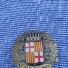 Militaria: PLACA INSIGNIA.CIUTAT DE BARCELONA.EPOCA DE FRANCO. Lote 244873775