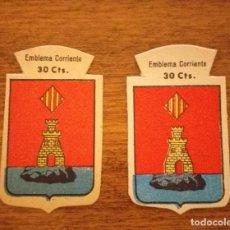 Militaria: 2 EMBLEMAS AUXILIO SOCIAL, CORRIENTES. SERIE B, Nº 86, ALICANTE, CON Y SIN RELIEVE.. Lote 245121325