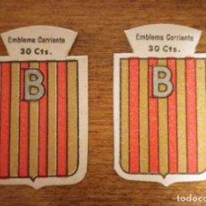 Militaria: 2 EMBLEMAS AUXILIO SOCIAL, CORRIENTES .SERIE B, Nº 96, BAÑOLAS, CON Y SIN RELIEVE.. Lote 245121590