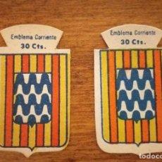 Militaria: 2 EMBLEMAS AUXILIO SOCIAL, CORRIENTES. SERIE B, Nº 78, GERONA, CON Y SIN RELIEVE.. Lote 245121835