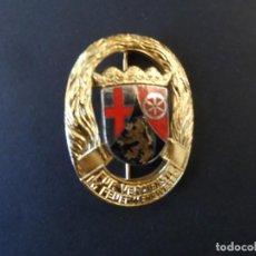 Militaria: INSIGNIA 35 AÑOS DE SERVICIO CUERPO DE BOMBEROS. RHEINLAND-PFALZ. RENANIA PALATINADO. DEUTCHLAND. Lote 246700600