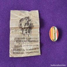Militaria: RARA INSIGNIA DE LA LEGION FASCISTA ITALIANA EN LA GUERRA CIVIL. 1936-39. LORIOLI FRATELLI.. Lote 246934635