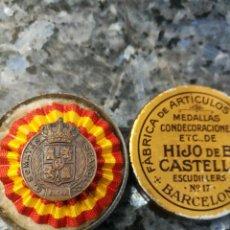 Militaria: INSIGNIA SOMATENES DE ALORA, CASTELLS EN SU ESTUCHE.. Lote 252768205