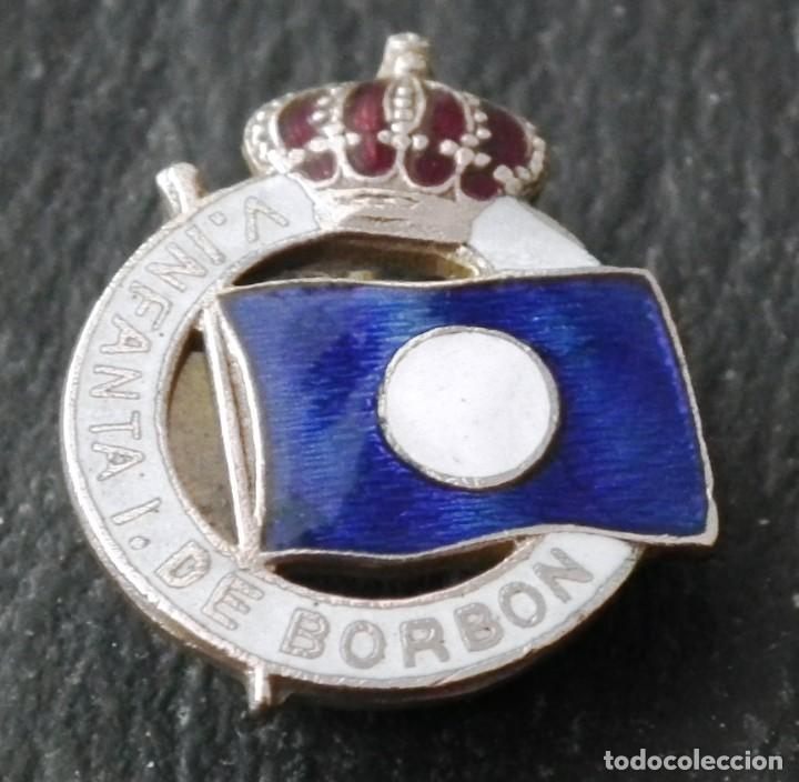 INSIGNIA DE SOLAPA VAPOR INFANTA ISABEL DE BORBÓN - FUTURO VAPOR URUGUAY - PRISIÓN EN BARCELONA (Militar - Insignias Militares Españolas y Pins)
