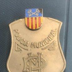 Militaria: PLACA ESMALTADA DE GORRA DE LA POLICÍA MUNICIPAL DE GAVÁ BARCELONA.1950'S.. Lote 254128380
