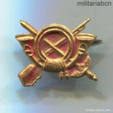 Militaria: INSIGNIA DE SOLAPA DE INFANTERÍA, PERÍODO DE LA GUERRA CIVIL ESPAÑOLA. 21 X 17MM.. Lote 254340060
